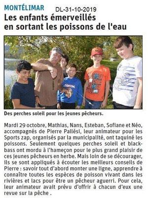 le Dauphiné Libéré du 31-10-2019- La pêche SPORT-ZAP Montélimar