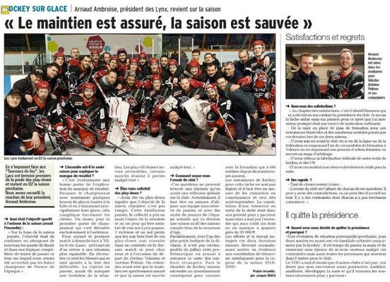 Dauphiné Libéré du 20-03-2018-Hockey sur glace-Valence