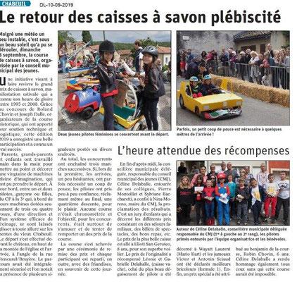Dauphiné libéré du 10-09-2019- Caisses à savon de Chabeuil