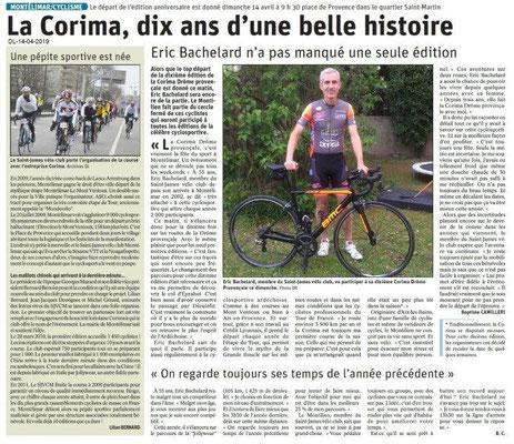 Le Dauphiné Libéré du 14-04-2019- 10e edition de la CORIMA