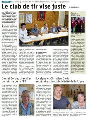 Dauphiné libéré du 28-08-2019- Tir d'Annonay