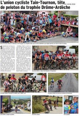 Dauphiné Libéré du 18-06-2018- Cyclisme Tain-Tournon