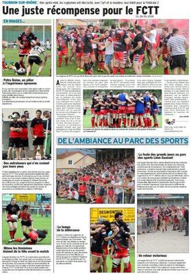 Dauphiné libéré du 28-05-2018-Rugby Tain-Tournon