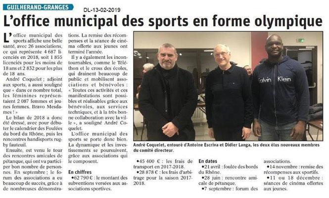 Dauphiné Libéré du 13-02-2019- AG OMS GG