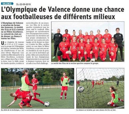 Le Dauphiné Libéré du 22-05-2019- Olympique de Valence
