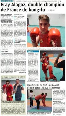 Le Dauphiné Libéré du 12-05-2019- Annonay- Ch.de F. de kung-fu