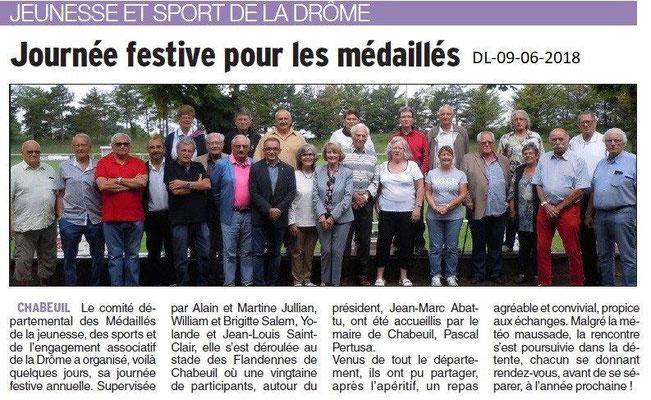 Dauphiné Libéré du 09-06-2018-Journée Champêtre avec  le CD26 MJSEA