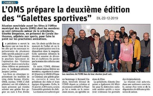 Dauphiné Libéré du 22-12-2019- Chabeuil
