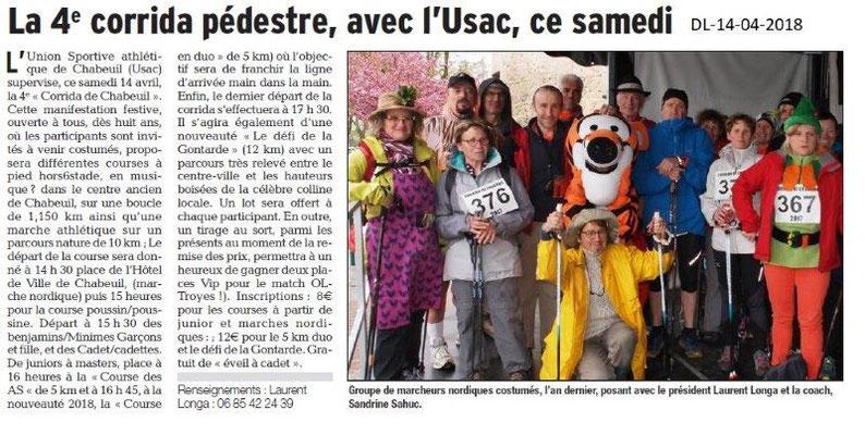 Dauphiné Libéré du 14-04-2018-4eCorrida pédestre-Chabeuil