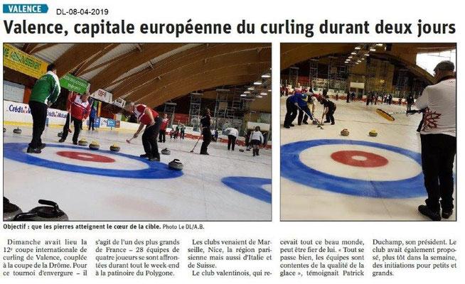 Le Dauphiné Libéré du 08-04-2019- Curling à Valence