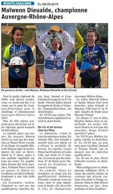 Le Dauphiné Libéré du 08-05-2019- BMX de Montélimar