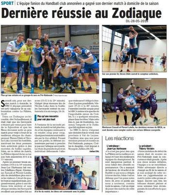 Dauphiné libéré du 28-05-2018-Handball à Annonay