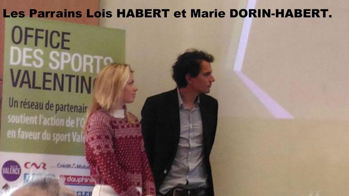 Les Parrains Lois HABERT et Marie DORIN-HABERT.