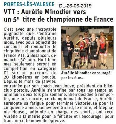 Dauphiné Libéré du 26-06-2019- VTT portois