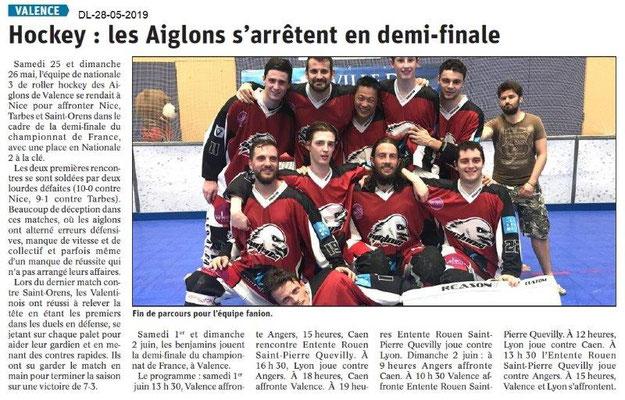 Le Dauphiné libéré du 28-05-2019- Hockey Valence