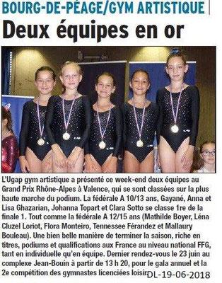 Dauphiné Libéré du 19-06-2018-UGAP Gym Artistique