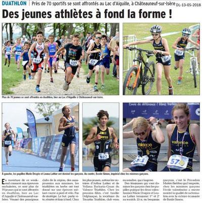 Dauphiné Libéré du 13-05-2018-Duathon à Chateauneuf-sur-Isère