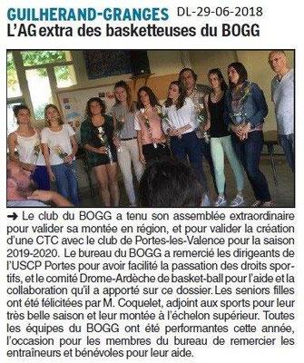 Dauphiné Libéré du 29-06-2018- Le club du BOGG