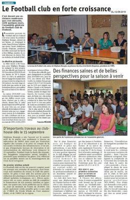 Dauphiné libéré du 12-09-2019- Foot de Chabeuil