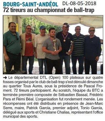 Dauphiné Libéré du 08-05-2018-Ball-trap à Bourg Saint-Andéol