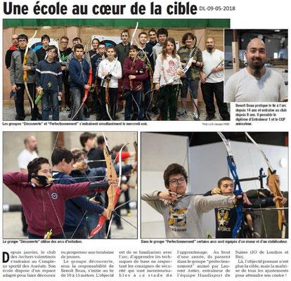 Dauphiné Libéré du 09-05-2018- Tir à l'arc à Valence