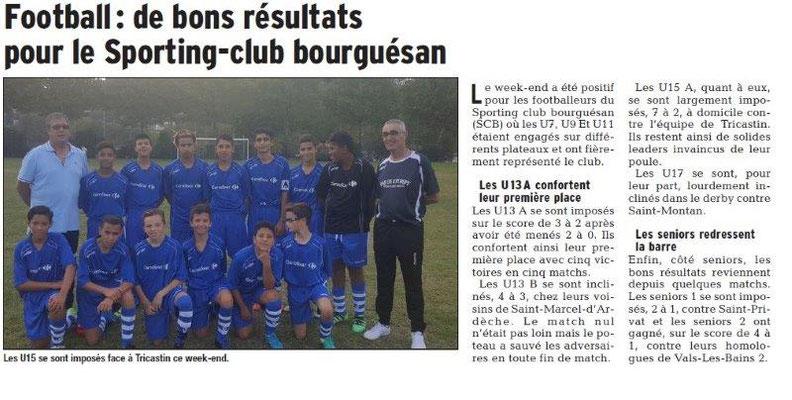 Dauphiné Libéré du 27-03-2018-Sportng-club Bourguésan-BSA