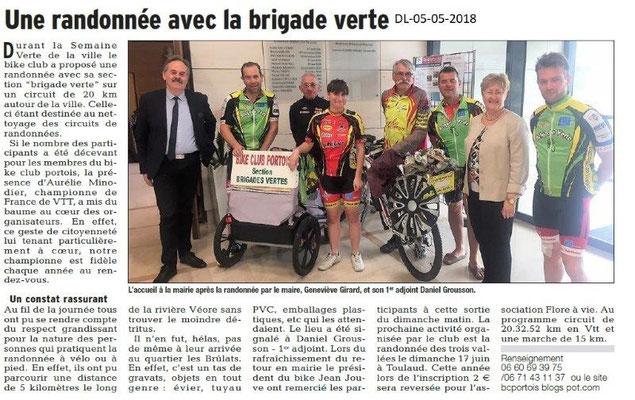 Dauphiné Libéré du 05-05-2018-Bike Club Portois