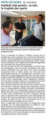 Dauphiné Libéré du 15-02-2019- Foot Portois