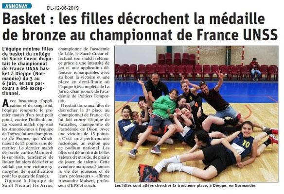 Dauphiné Libéré du 12-06-2019- Basket d'Annonay