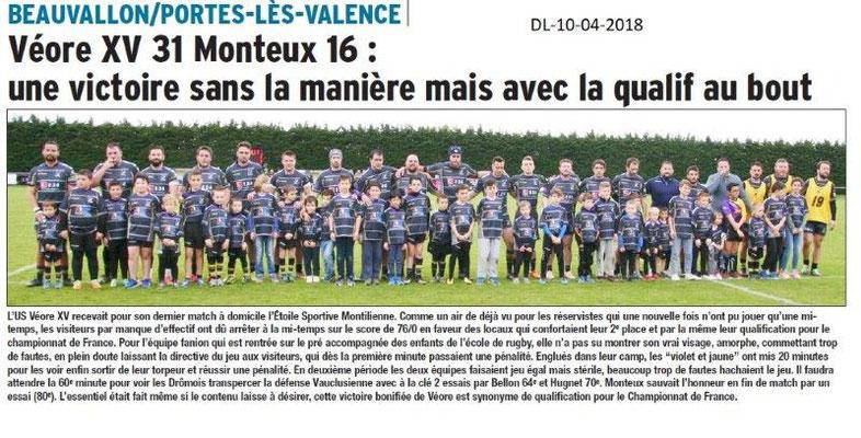 Dauphiné Libéré du 10-04-2018-VéoreXV
