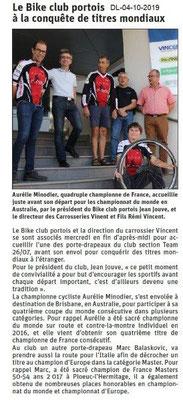 Dauphiné libéré du 04-10-2019- Bike Club Portois A.Minaudier