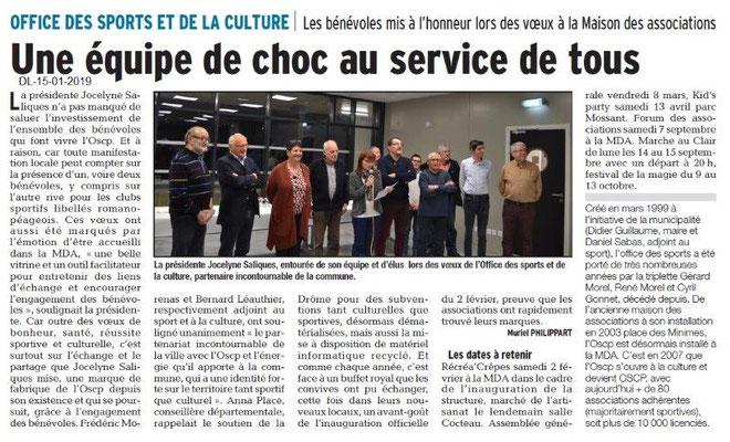 Dauphiné Libéré du 15-01-2019-Vœux OSCP