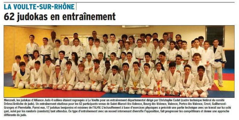 Dauphiné Libéré du 17-03-2018 17-03-2018-Judo entrainement à La Voulte