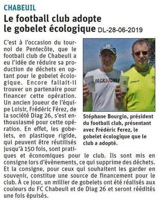 Dauphiné Libéré du 28-06-2019- Football de Chabeuil