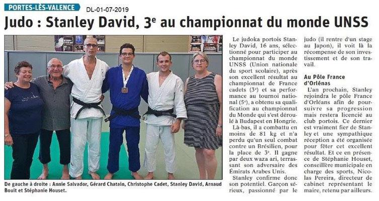 Dauphiné Libéré du 01-07-2019- Judo de PLV