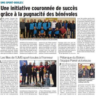 Dauphiné Libéré du 04-04-2018-UMS SPORT-BOULES-Montélimar