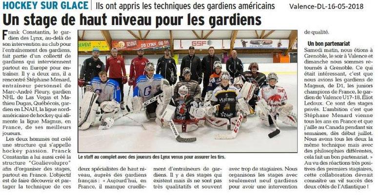 Dauphiné Libéré du 16-05-2018-Hockey sur glace