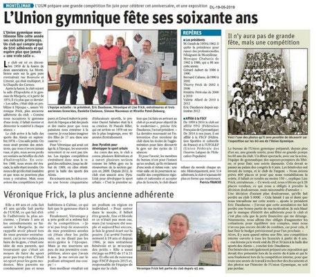 Le Dauphiné Libéré du 19-05-2019- Gym Montélimar