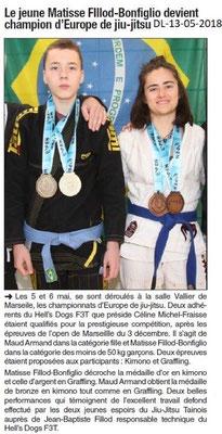 Dauphiné Libéré du 13-05-2018- Jui-jitsu Tain-l'Hermitage