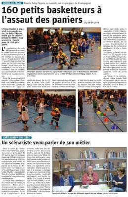 Le Dauphiné Libéré du 08-04-2019- Mini basket à Bourg de Péage