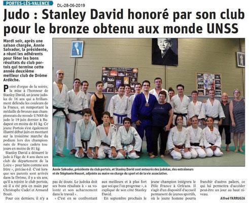 Dauphiné Libéré du 28-06-2019- Judo de PLV