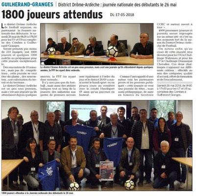 Dauphiné Libéré du 17-05-2018- Football district Drôme-Ardèche