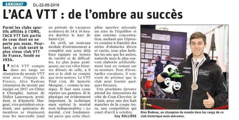 Le Dauphiné Libéré du 22-05-2019- Club VTT d'Annonay