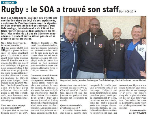 Dauphiné Libéré du 11-06-2019- Rugby d'Annonay