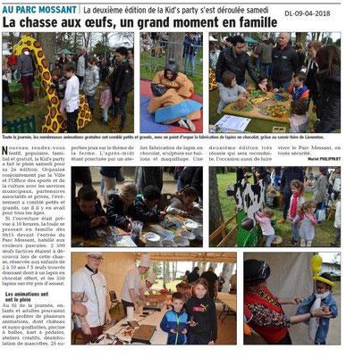 Dauphiné Libéré du 09-04-2018-Kids's party-OSCP Bourg de Péage