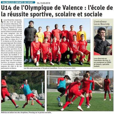 Le Dauphiné Libéré du 13-03-2019- 13-03-2019- Les enfants du sport de Valence