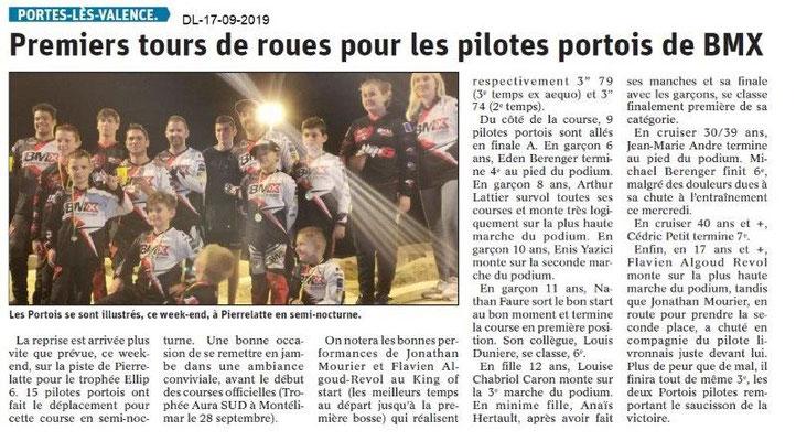 Dauphiné libéré du 17-08-2019- BMX de Portes-lès-Valence