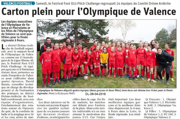 Le Dauphiné Libéré du 09-04-2019- Foot-L'olympique de Valence