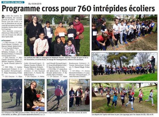 Le Dauphiné Libéré du 10-04-2019- Cross PLV