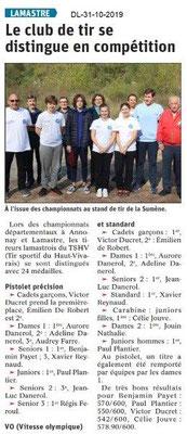 le Dauphiné Libéré 31-10-2019- Club de tir de Lamastre